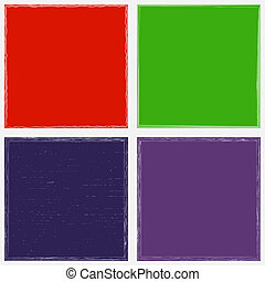 Color Grunge Frame Set