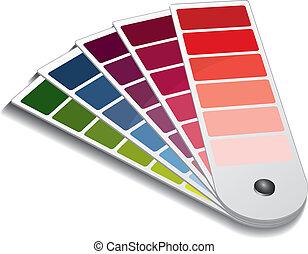 color, guía, pantone