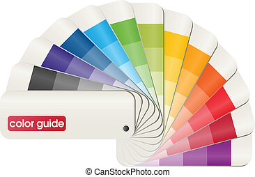 color guide - 3D vector design of a print color guide