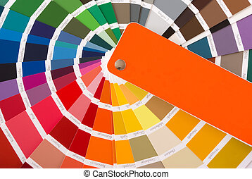 color guide - expanded fan of color samples