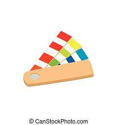 Color guide icon in cartoon style