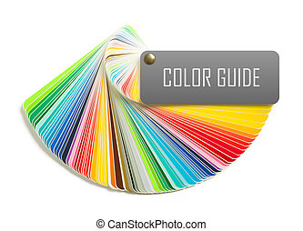 color guide isolated on white background