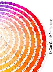color guide closeup