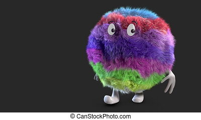 color hairy ball alpha channel - Happy Colorfull Fluffy...