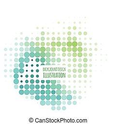 Color halftone spotted flash design element