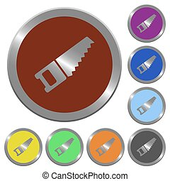 Color hand saw buttons