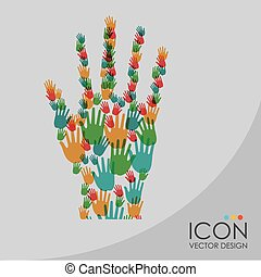 color hand vector illustration