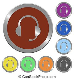 Color headset buttons