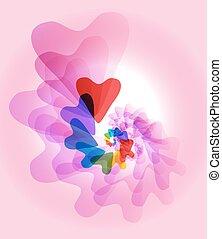Color heart Vector.