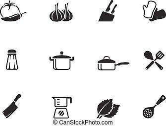 color., heiligenbilder, ledig, kochen