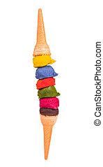 color, helado