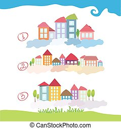 Color house illustration vector