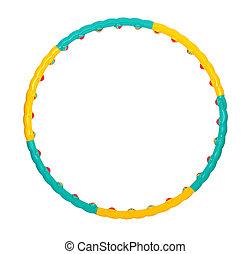 hula hoop - color hula hoop on a white background