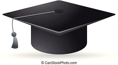 Color Icon - Education - Graduation hat icon in color....