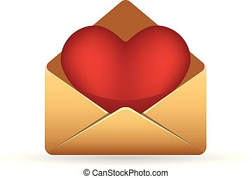 Color Icon - Envelope heart