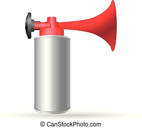 Color Icon - Gas horn - Gas horn in color. Alarm loud high...