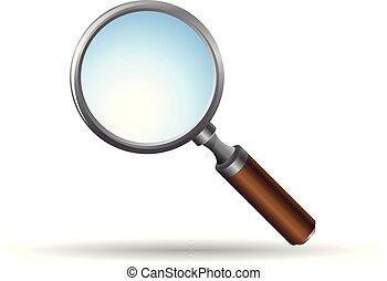 Color Icon - Magnifier - Magnifier icon in color. Zoom...