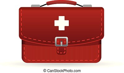 Medical case icon in color. Health care equipment storage