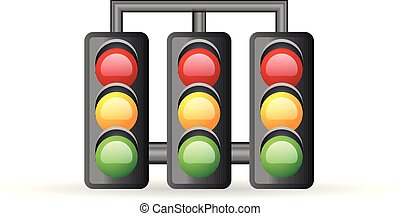 Color Icon - Red light sign