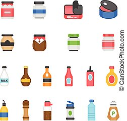 Color icon set - ketchup