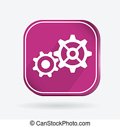 Color icon. symbol settings. cogwheel