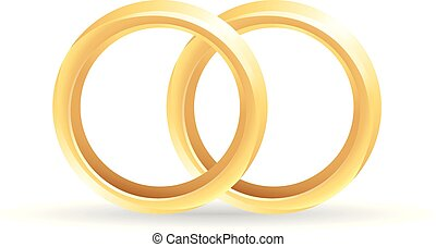 Color Icon - Wedding Ring - Wedding ring icon in color.