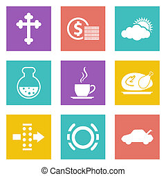 Color icons for Web Design set 31