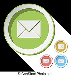 color icons with envelope