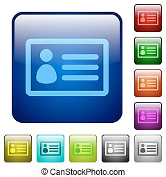 Color ID card square buttons