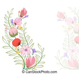 Color illustration of flowers