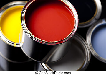 Color Image - art, background, brush, bucket, can, color, ...
