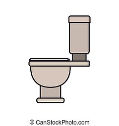 color image of toilet icon side view