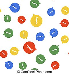 Color Information icon isolated seamless pattern on white background. Vector