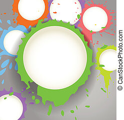 Color ink blots speech clouds abstract background