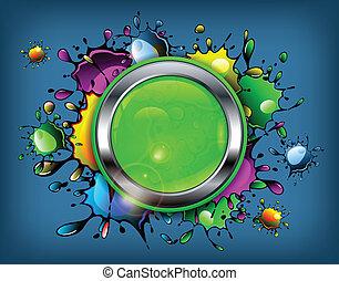 Color inkblot icon