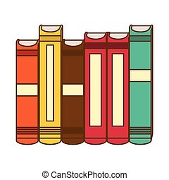 Color interenting knowledge books icon