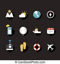 Color interface flat design icons