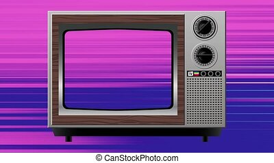 color interference distortion on old tv