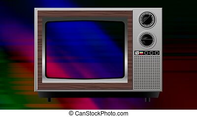 color interference distortion on old tv.