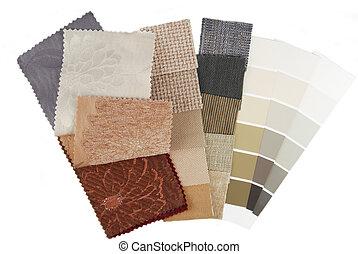 color, interior, blanco, selección, aislado
