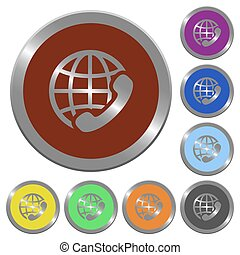 Color international call buttons