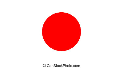 flag of Japan - color isolated vector illustration flag of...