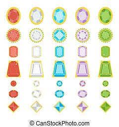 color jewerly gems