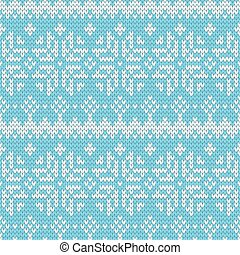 color knitted Christmas seamless pattern.