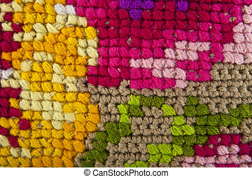 color knitted texture as background closeup