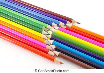 color, lápices, multi