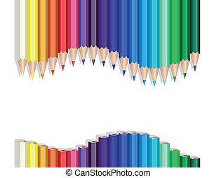 color, lápices, onda