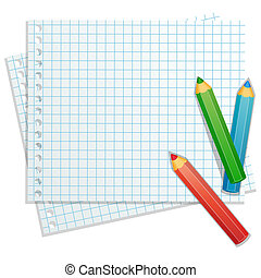 color, lápices, plano de fondo