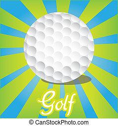 color, líneas, pelota, golf