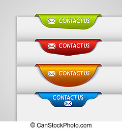 Color label bookmark contact on the edge of web page